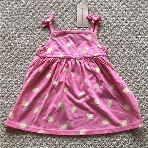🆕 Baby Girl Lemon Print Sundress - 12 months
